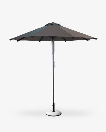 Πάνινη ομπρέλα αλουμινίου καφέ mocca Φ2.30μ