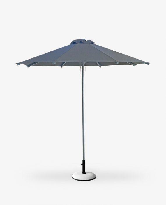 Ομπρέλα αλουμινίου γκρι για παραλία