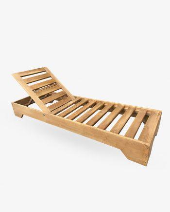 ξυλινη ξαπλωστρα με μαξιλαρι