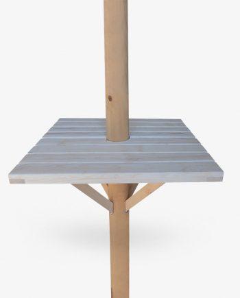 ξυλινο τραπεζακι ιστου ομπρελας τετραγωνο